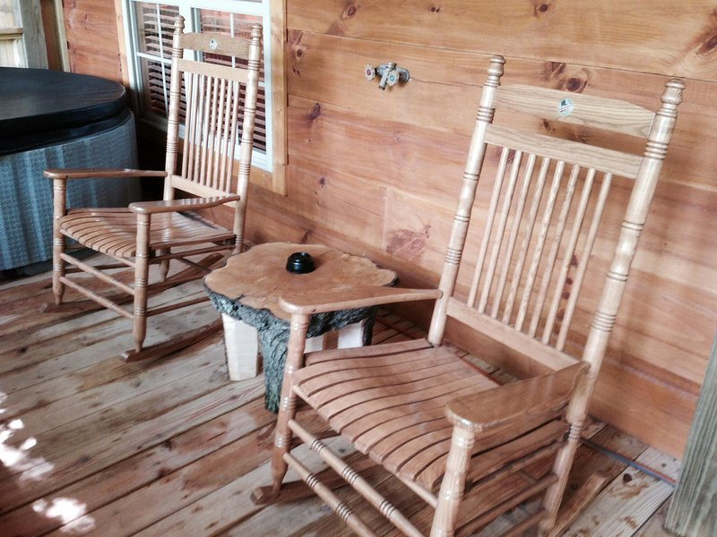 Rocking chairs to sip your coffee or wine!