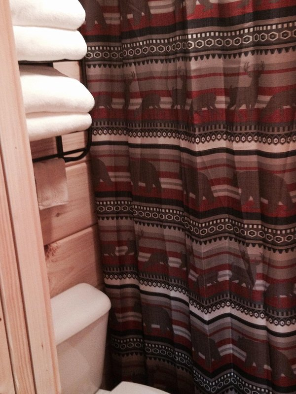 Plush towels ready for your visit to the Hot Tub!