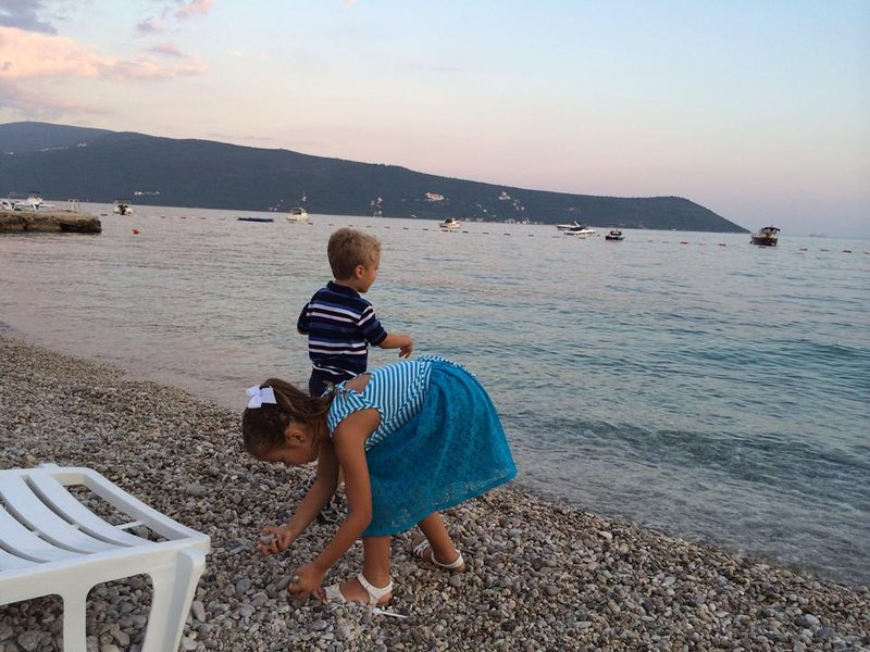 Early evening on the beach in Meljine