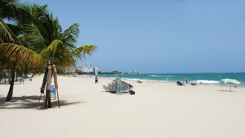 Isla Verde beach without the Sunday crowds.