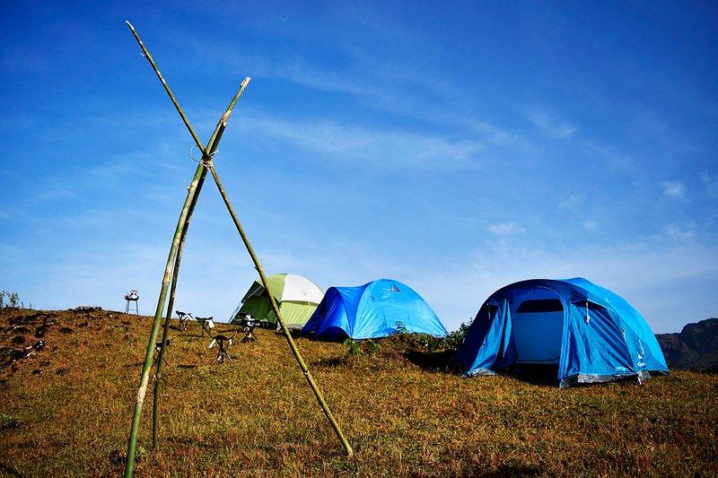 Unsere Vagamon Zelt Campingplatz
