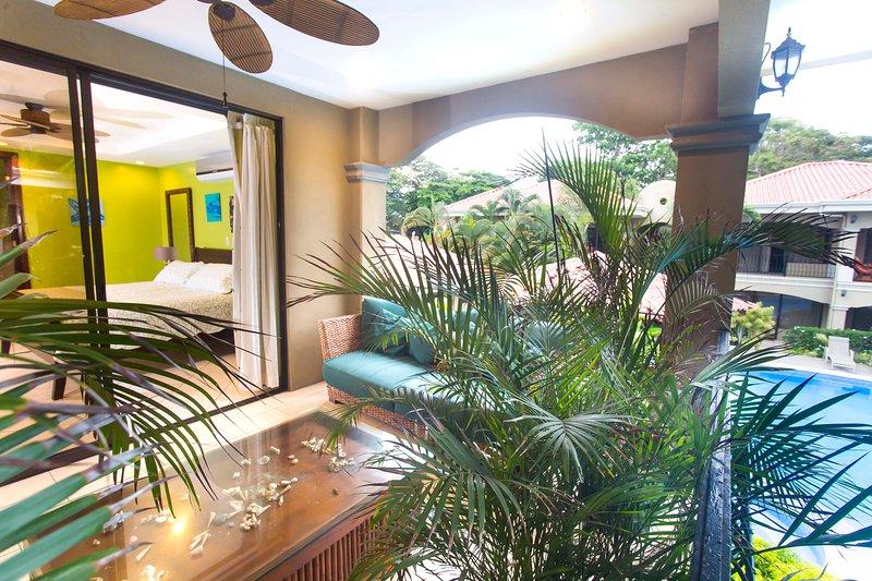 Balcony, decorating with plants