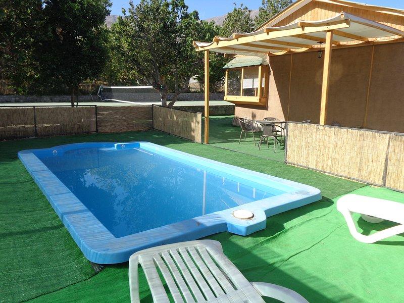 Cabaña Vacación Elquina con piscina exclusiva, alquiler de vacaciones en Región de Coquimbo