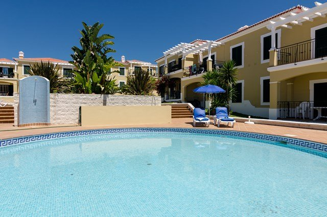 Small pool, one of three you can use. Your own sunbeds to use whenever you like.