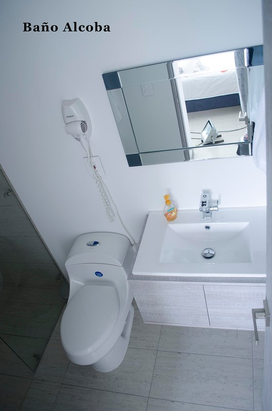Hairdryer in master bathroom