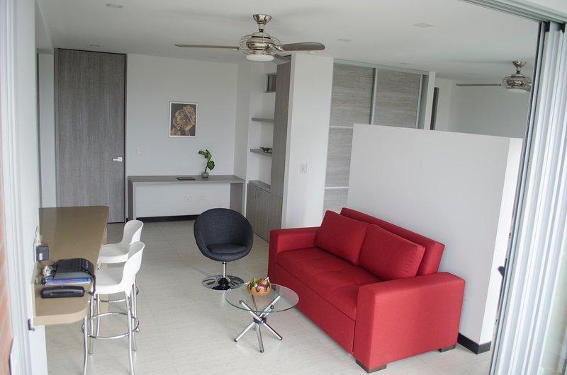 Social area; corner of study or work