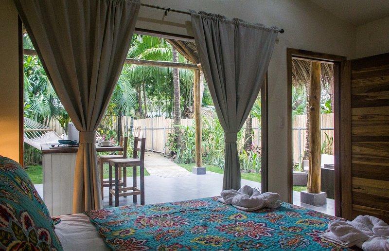 Belle Chambre avec Vue sur le jardin