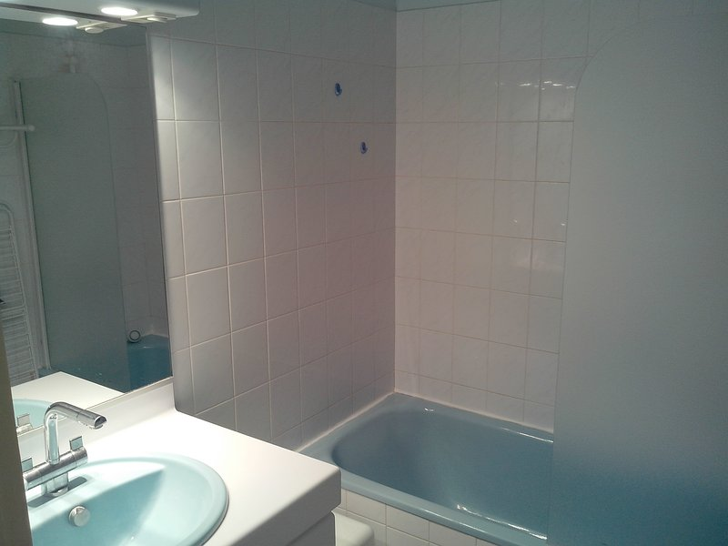 bathroom, bath and shower and separate toilet