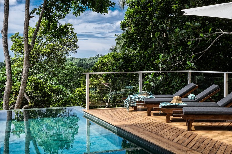 Tropical views by the infinity edge pool