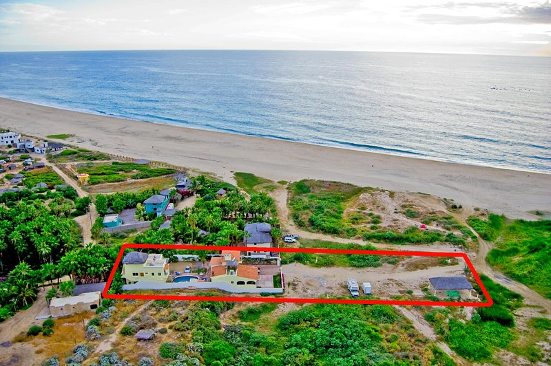 Pescadero Palace is located on a pristine 3-mile white sand beach!