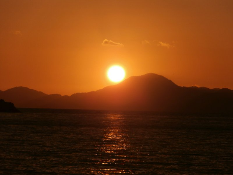 An amazing sunset from bay of Fethiye