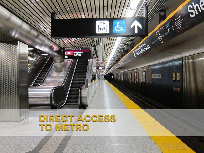el acceso al metro de la estación de metro