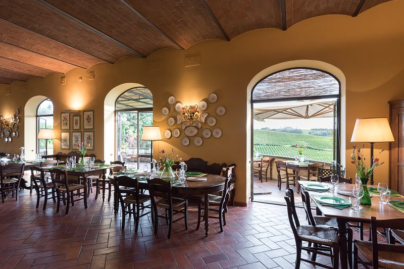 The restaurant of the property