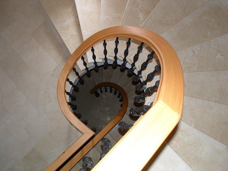 Villa Galvia spiral staircase