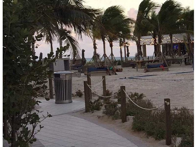 Direct beach access from pool thru the newly opened 5 star Hyde Beach resort