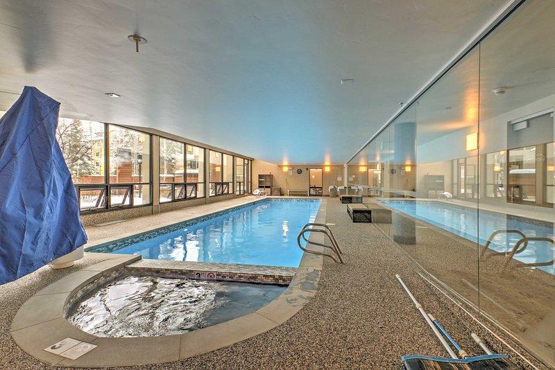 Look forward to refreshing dips in the community pool.