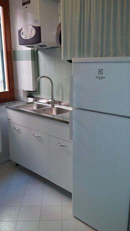 Una parte della cucina è stata rinnovata .