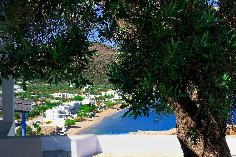 Artemis Studios, Studio 6 ,vue exceptionnelle sur la baie de Platis Yialos, alquiler vacacional en Sifnos