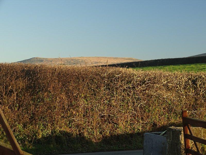 Vistas a Dartmoor de la granja.