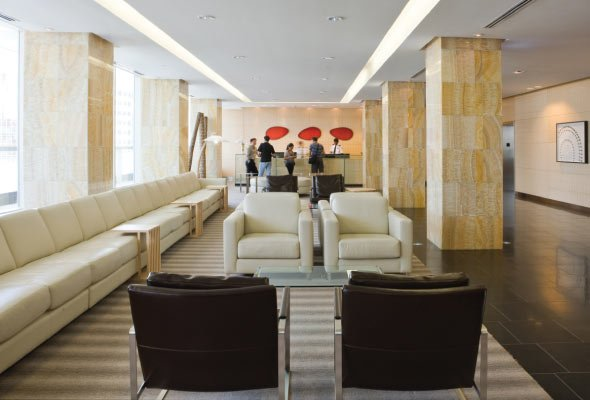 9th Floor Main Lobby with 24 Hour Security and Concierge.