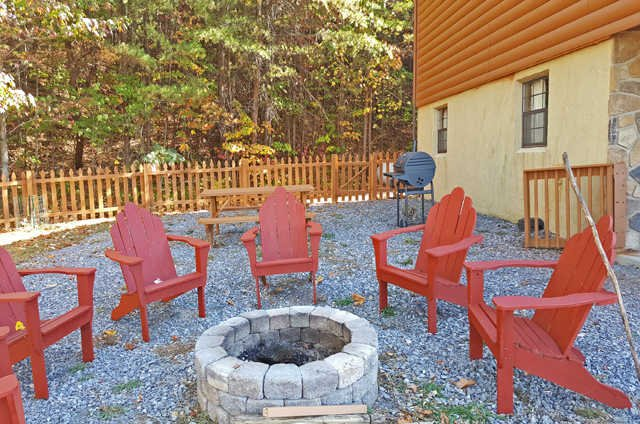 New coat of stain on the fire pit chairs!