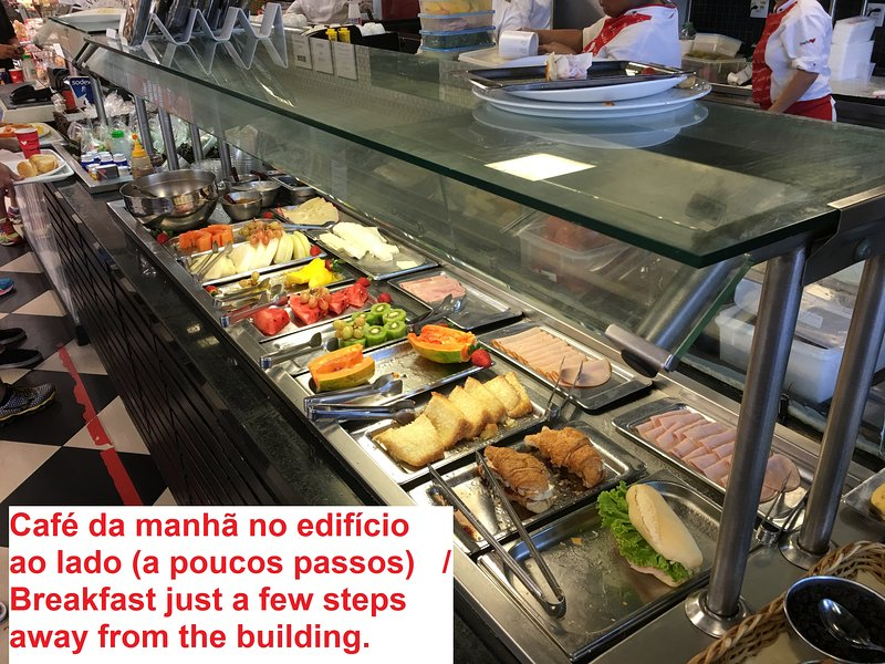 In the building next door there is the option to buy the kilo meals (self-service)
