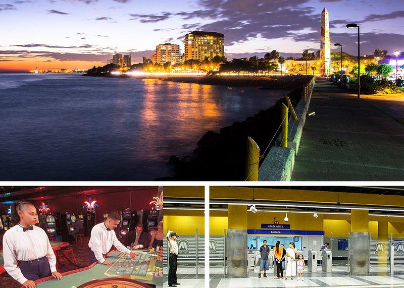 Getting around: casinos, metro station.