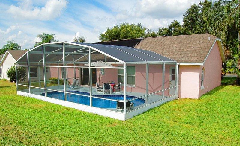 Solar heated pool saves  on heating bills