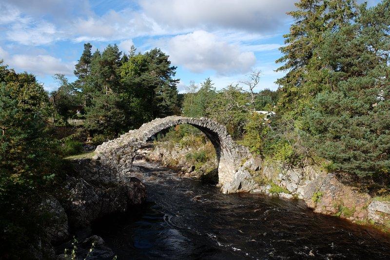 Carrbridge - le vieux pont dans le centre du village, qui à partir de laquelle le village tire son nom