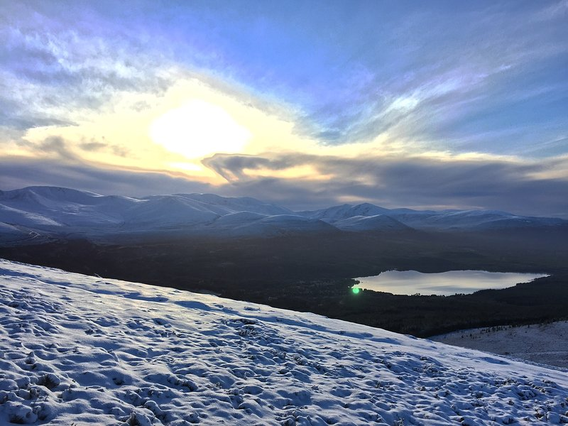 View of Loch Molich from Meall a' Bhuachaille.