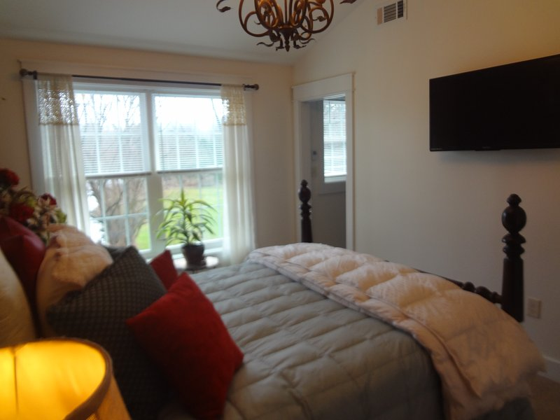 Master Bedroom with private HDTV