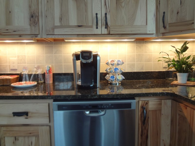 Kitchen with under counter lighting
