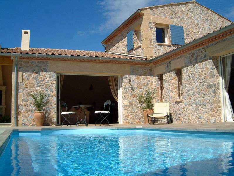 Beautiful cut stone villa - private pool, all en-suite and magnificent views.