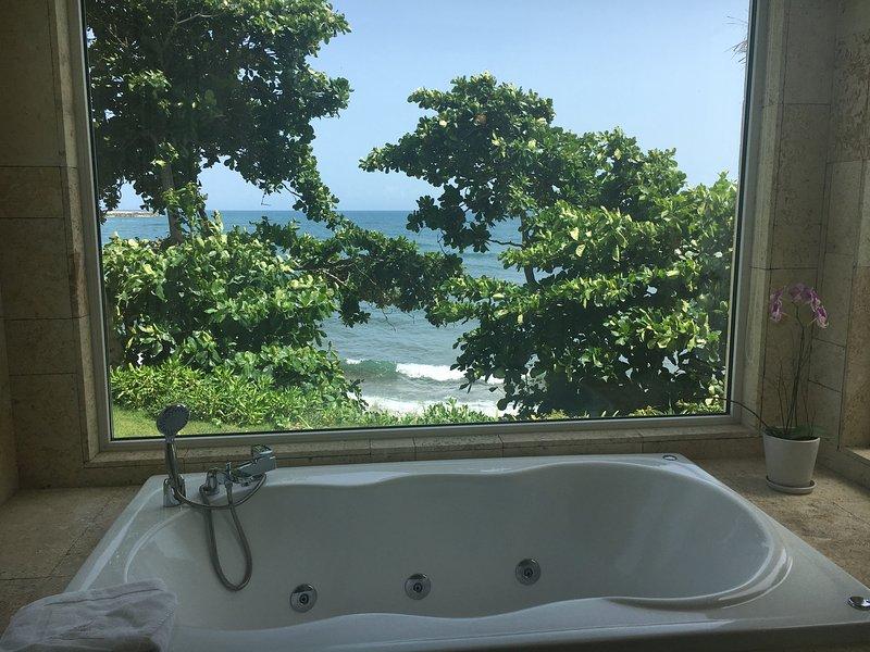 ¿Quién no amaría a relajarse en esta bañera con esa vista ?!