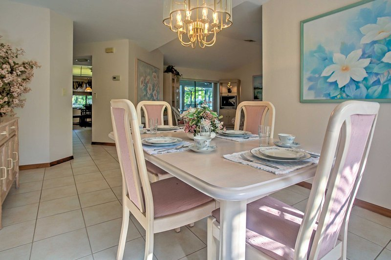 Enjoy delicious home-cooked meals at the dining table.