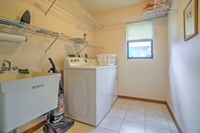 You can pack lightly, thanks to the in-unit laundry machines!