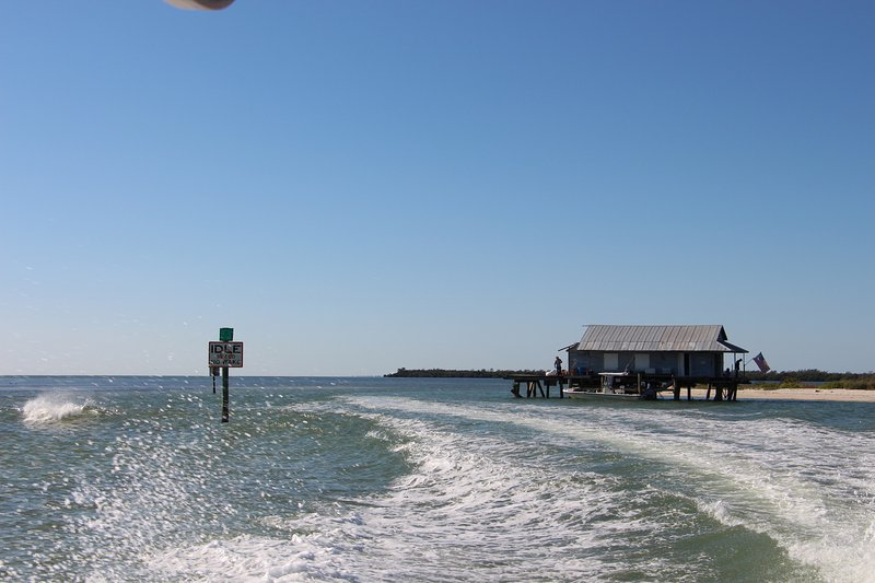 Entry / Exit by the old ice house at Safety Harbor on North Captiva Island