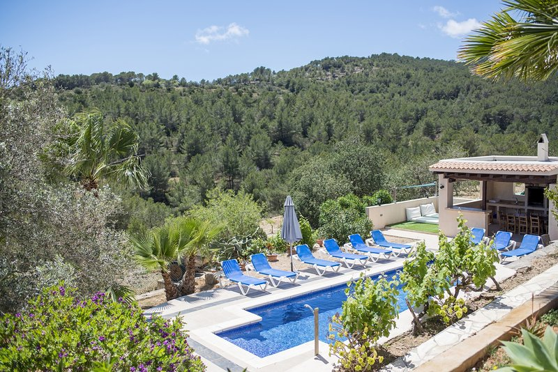 ⭐⭐⭐⭐⭐SANITIZED Finca, amazing views and private pool, 15 minute from Ibiza, location de vacances à Sant Josep de Sa Talaia