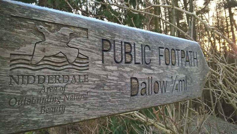 Idyllic circular walk from Dallow Hall Barns