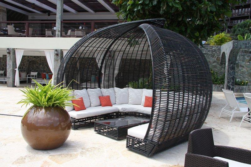 Cabana no terraço resort