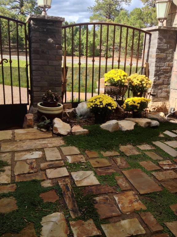 Outdoor courtyard.