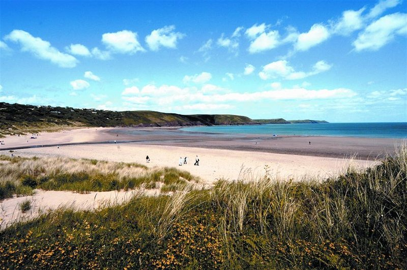 Freshwater East is a great beach just around the coast.