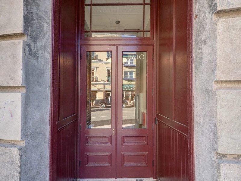 Outside heritage entrance on Store Street, 2 elevators available on Pandora Street side
