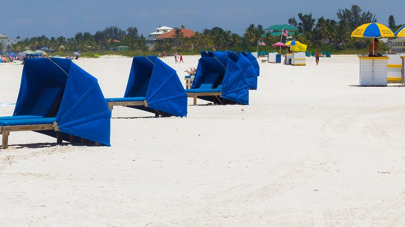 Beach chairs/towels provided or rent cabanas, chairs and umbrellas, jet skis, and parasail.