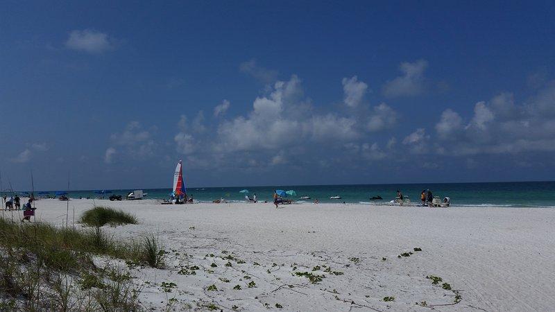 Beach across the street
