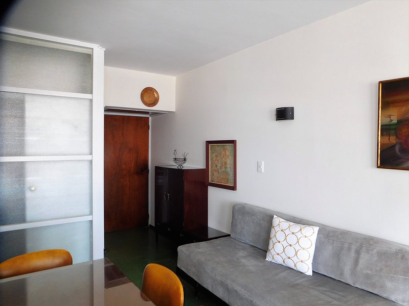 View towards the apartment entrance.