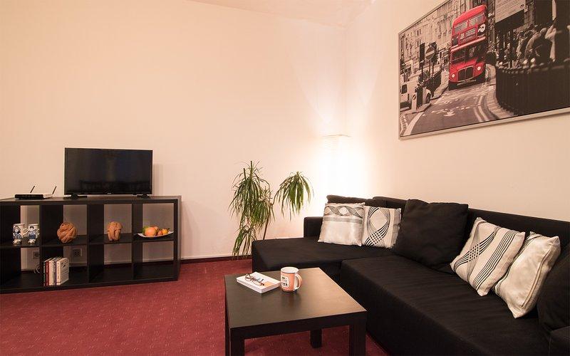Cozy-coin salon, avec canapé-lit