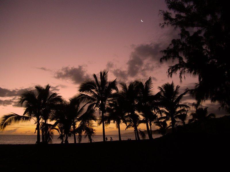 Bij zonsondergang ...