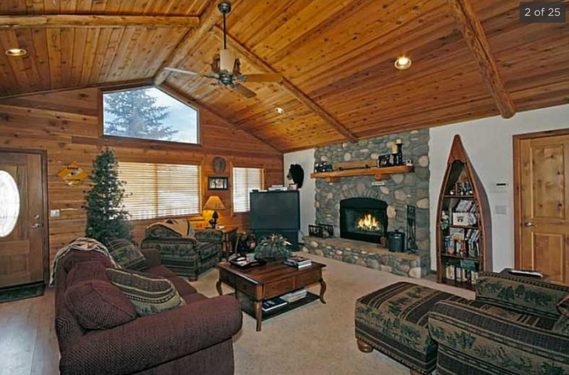 Cozy living space with fireplace