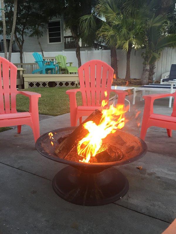 fogueira à beira